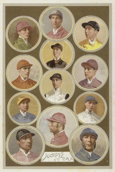 Jockeys of the Day--Giclee Print