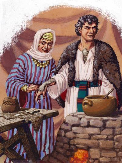 Jocob Being Disguised by His Mother-Pat Nicolle-Giclee Print