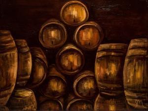 Wine Barrels by Jodi Monahan