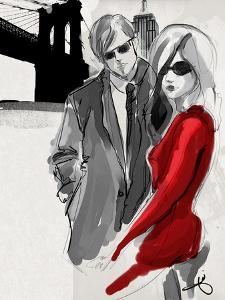Brooklyn Couple Red Dress by Jodi Pedri