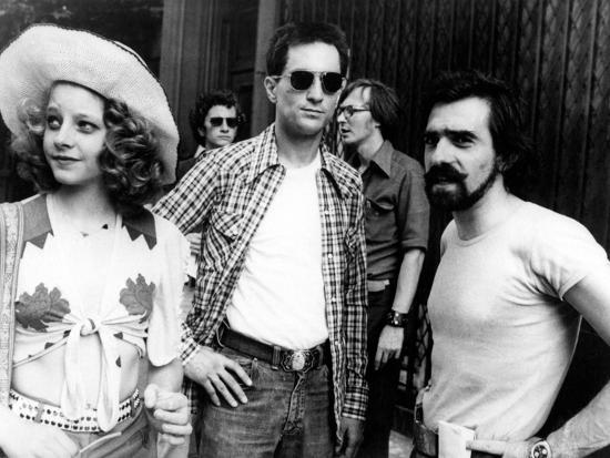 "Jodie Foster; Martin Scorsese; Robert De Niro. ""Taxi Driver"" [1976], Directed by Martin Scorsese.--Photographic Print"