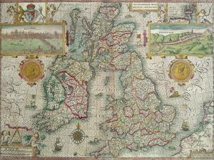 Map of the Kingdom of Great Britain and Ireland, 1610 by Jodocus Hondius