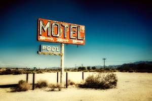 Motel Roadside Sign by Jody Miller