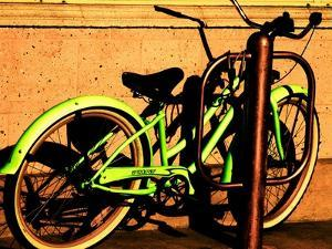 Neon Green Bike by Jody Miller