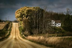 Rural Road Disappearing into Distance in USA by Jody Miller