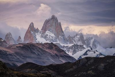 A Moody Sunset At Mt Fitz Roy In Patagonia