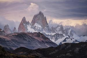 A Moody Sunset At Mt Fitz Roy In Patagonia by Joe Azure