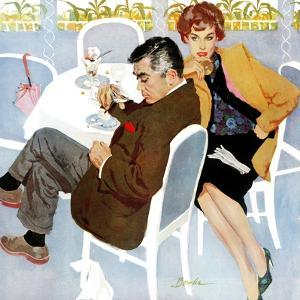 """Unfinished Love - Saturday Evening Post """"Men at the Top"""", April 5, 1958 pg.28 by Joe Bowler"""