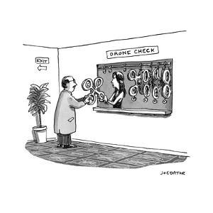 """Drone check"" - Cartoon by Joe Dator"
