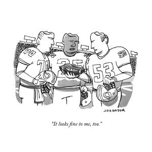 """It looks fine to me, too."" - New Yorker Cartoon by Joe Dator"