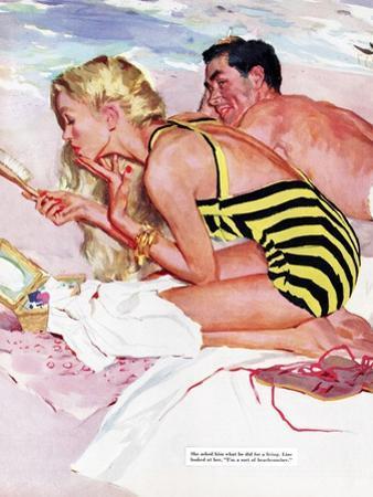 "No Man Is Worth It  - Saturday Evening Post ""Leading Ladies"", February 7, 1953 pg.20 by Joe de Mers"