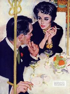 "Shock Treatment  - Saturday Evening Post ""Leading Ladies"", April 12, 1958 pg.26 by Joe de Mers"