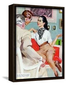 "The Lady Broke The Rules  - Saturday Evening Post ""Leading Ladies"", September 13, 1952 pg.23 by Joe de Mers"