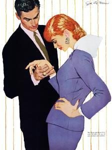 "I Love You, Mama Girl - Saturday Evening Post ""Men at the Top"", March 31, 1956 pg.25 by Joe deMers"
