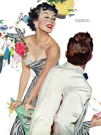 "I Want A Man  - Saturday Evening Post ""Leading Ladies"", April 15, 1950 pg.40"