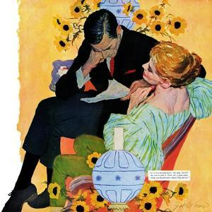 "Love Dies Slowly - Saturday Evening Post ""Men at the Top"", March 2, 1957 pg.27 by Joe deMers"