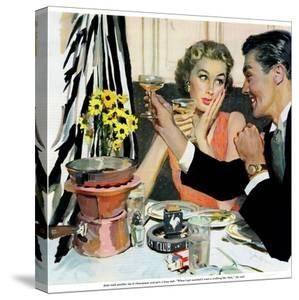 """Marriage is for Suckers  - Saturday Evening Post """"Leading Ladies"""", March 7, 1953 pg.21 by Joe deMers"""