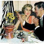 "Model Wife  - Saturday Evening Post ""Leading Ladies"", August 13, 1955 pg.20-Joe deMers-Giclee Print"
