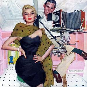 "Model Wife  - Saturday Evening Post ""Leading Ladies"", August 13, 1955 pg.20 by Joe deMers"
