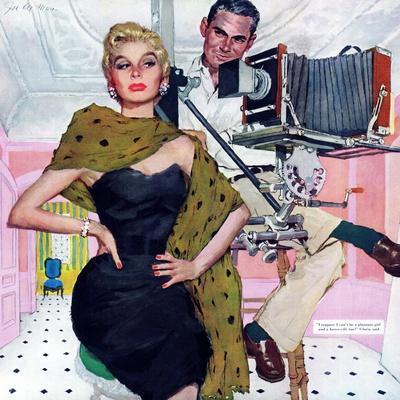 "Model Wife  - Saturday Evening Post ""Leading Ladies"", August 13, 1955 pg.20"