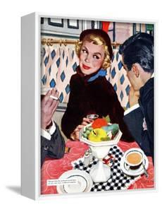 """The Indiscreet Window  - Saturday Evening Post """"Leading Ladies"""", January 20, 1951 pg.20 by Joe deMers"""