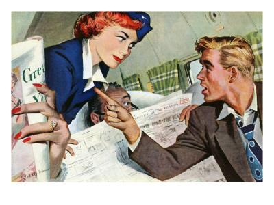 """The Passenger Hated Redheads  - Saturday Evening Post """"Leading Ladies"""", August 13, 1949 pg.24"""
