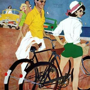 "Too Slow for the Crowd - Saturday Evening Post ""Leading Ladies"", March 11, 1961 pg.27 by Joe deMers"