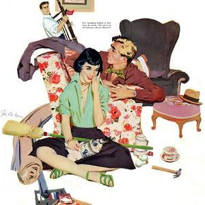 "Two Men are Better Than One  - Saturday Evening Post ""Leading Ladies"", July 1, 1950 pg.20 by Joe deMers"