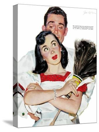 "Wife in Revolt - Saturday Evening Post ""Leading Ladies"", March 22, 1952 pg.24"