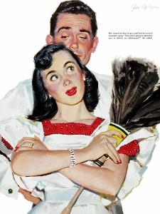 """Wife in Revolt - Saturday Evening Post """"Leading Ladies"""", March 22, 1952 pg.24 by Joe deMers"""
