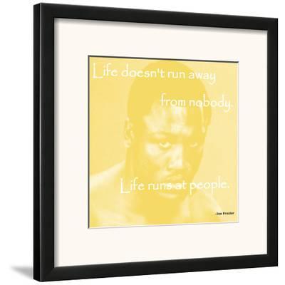 Joe Frasier--Framed Art Print