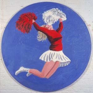 Cheerleader Tondo, 2001 by Joe Heaps Nelson