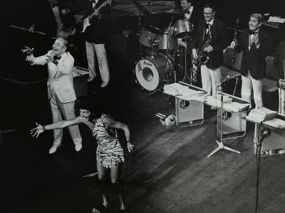 Joe Loss (Left) on Stage with His Orchestra at the Forum Theatre, Hatfield, Hertfordshire, 1986-Denis Williams-Photographic Print