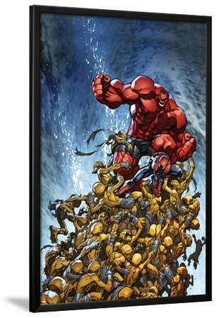 Avenging Spider-Man No.2 Cover: Spider-Man and Red Hulk Fighting Moloids