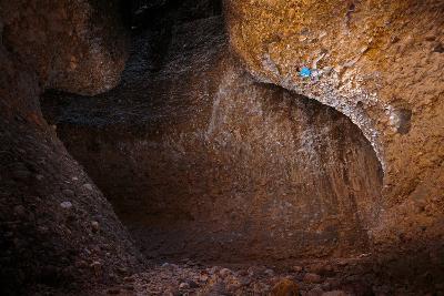 Joe Meiners Climbing Steep Cobble Stone In Maple Canyon, Utah-Ben Herndon-Photographic Print