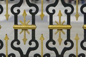 Wrought Iron Fence with Gilded Decoration At the Royal Palace by Joe Petersburger