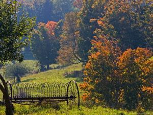 Fall Scenic of Farmland Along Cloudland Road, North of Woodstock, Vermont, USA by Joe Restuccia III