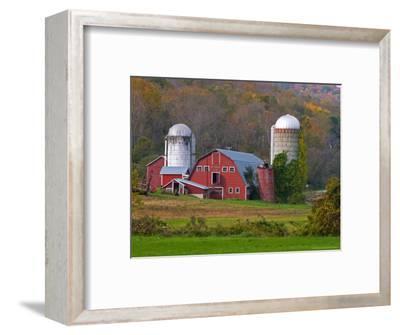 Farm Landscape in Fall Color, Arlington, Vermont, USA