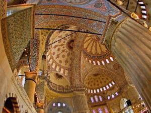 Interior of the Blue Mosque, Istanbul, Turkey by Joe Restuccia III
