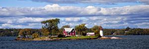 Island Home and Lighthouse on the Thousand Islands, New York, USA by Joe Restuccia III