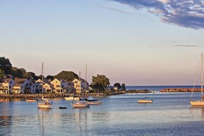 Picturesque View of the Harbor on Mackinac Island, Michigan, USA