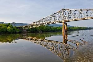 Sailing under a Bridge over the Tennessee River, Tennessee, USA by Joe Restuccia III