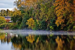 Shoreline Along the Mohawk River, Erie Canal System, New York, USA by Joe Restuccia III
