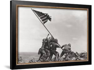 Flag Raising on Iwo Jima, c.1945 by Joe Rosenthal