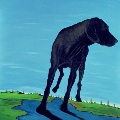 Joe's Black Dog (New View), 2000-Marjorie Weiss-Giclee Print