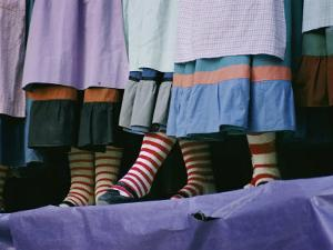 A View of People Wearing Striped Stockings by Joe Scherschel