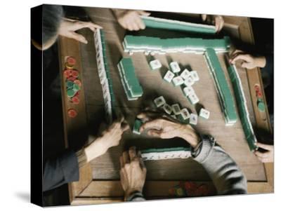 Chinese People Play Mah-Jongg