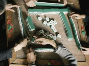 Chinese People Play Mah-Jongg by Joe Scherschel