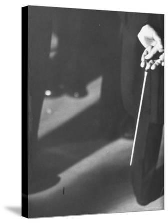 Conductor Arturo Toscanini, Tapping His Leg with a Baton
