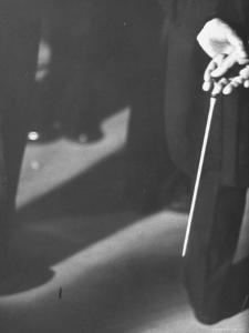 Conductor Arturo Toscanini, Tapping His Leg with a Baton by Joe Scherschel